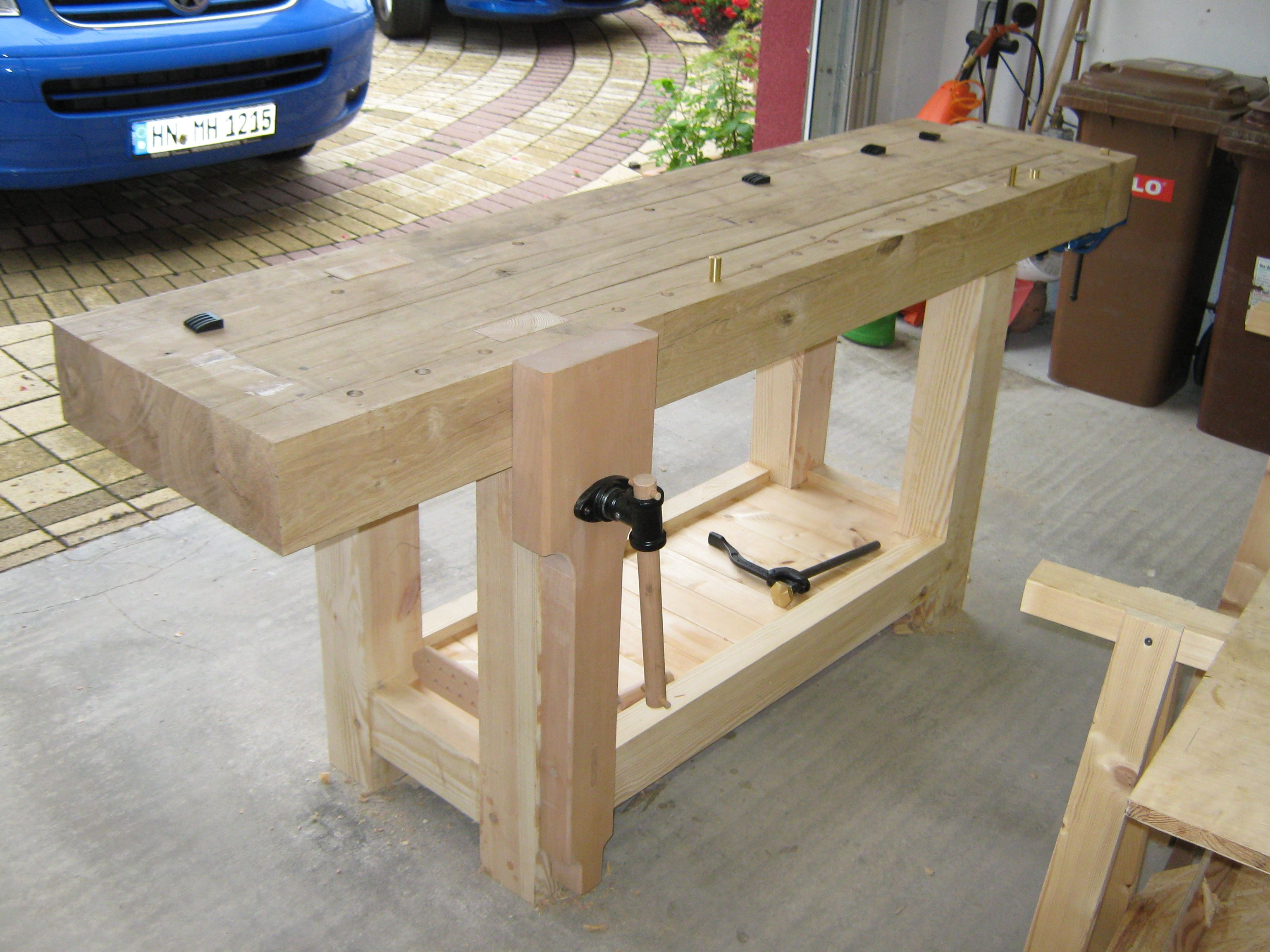 building a workbench fertigstellung der hobelbank teil 3. Black Bedroom Furniture Sets. Home Design Ideas