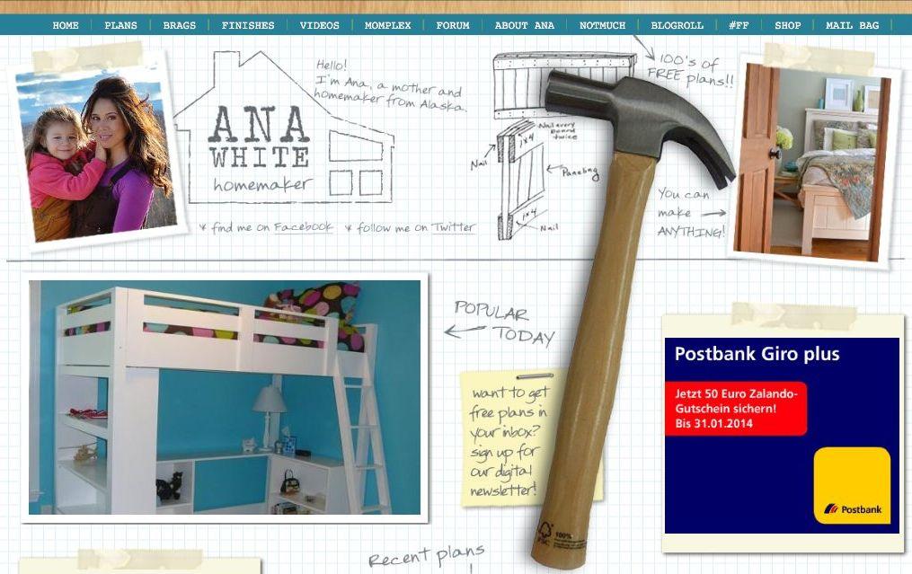 Fundsache: Ana White - Heimwerken in Alaska - Holz und Leim