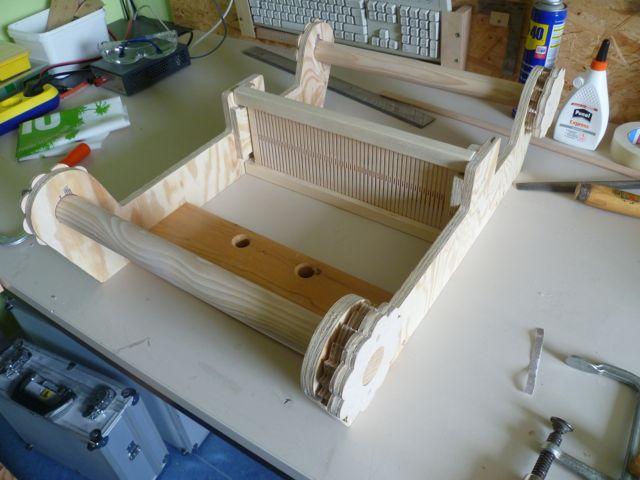 kammwebstuhl selbstgebaut teil 1 mit bauplan holz und leim. Black Bedroom Furniture Sets. Home Design Ideas
