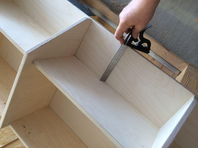 garderobe selbst gebaut teil 2 holz und leim. Black Bedroom Furniture Sets. Home Design Ideas