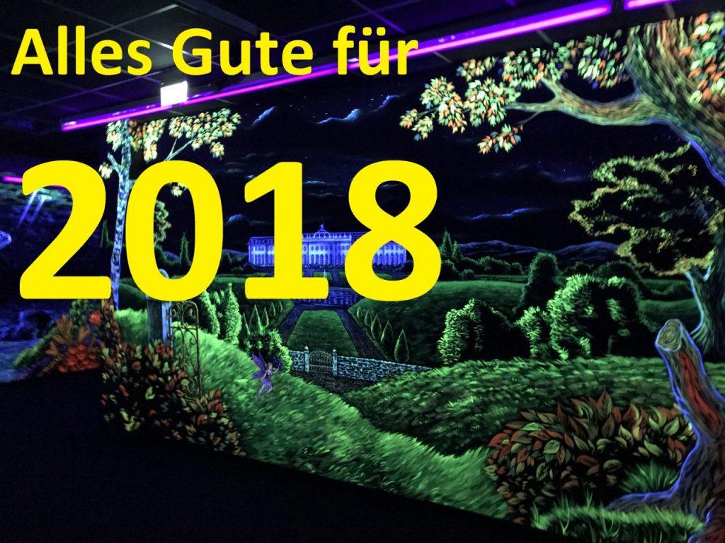 Das neue Jahr 2018 - ein Ausblick - Holz und Leim