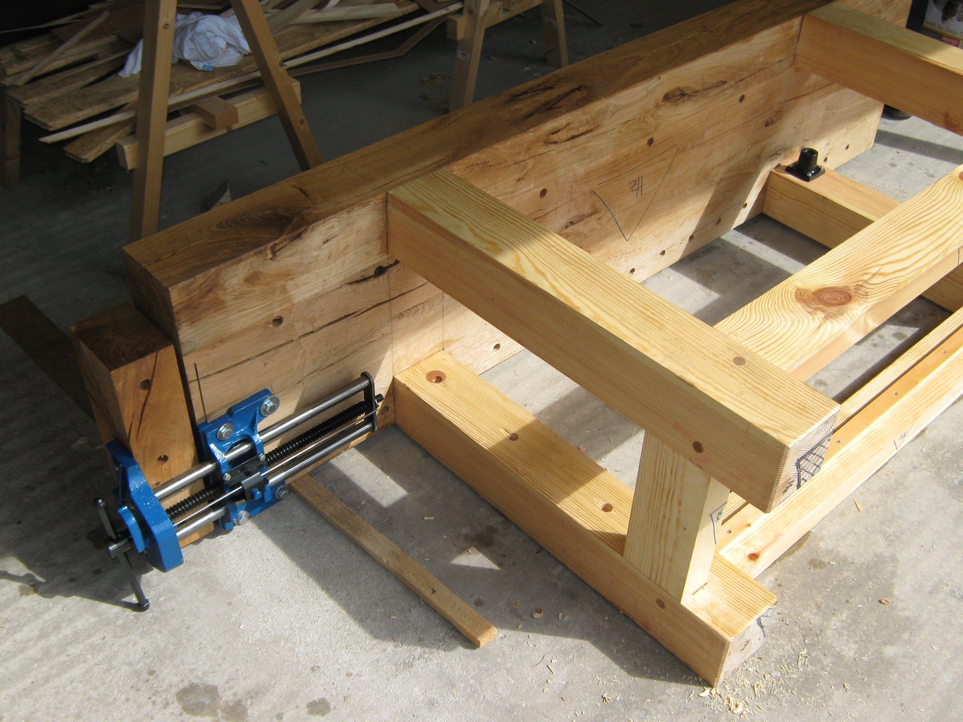 building a workbench fertigstellung der hobelbank teil 5 holz und leim. Black Bedroom Furniture Sets. Home Design Ideas