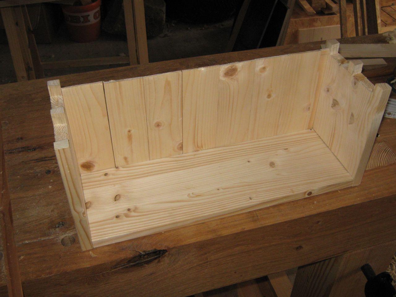 Gut gemocht Kleine Transportkiste - handgemacht - Holz und Leim PN76