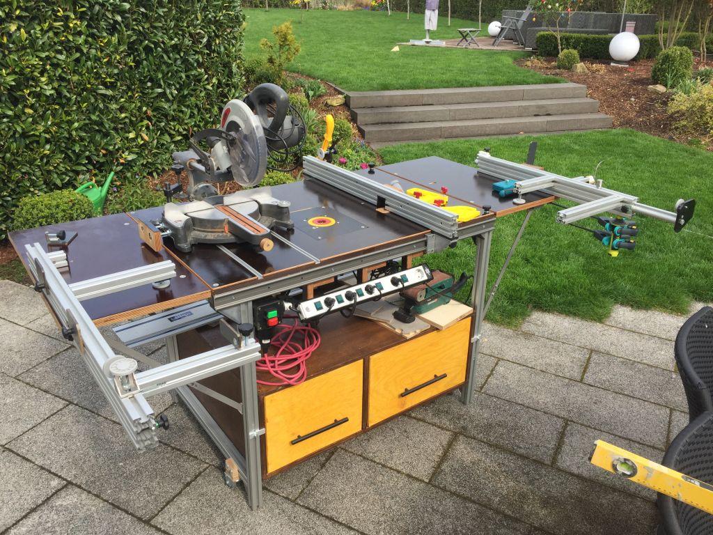 Bevorzugt Multifunktionstisch zum Sägen, Fräsen und Schweißen - Holz und Leim PJ73